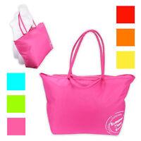 XXL Strandtasche 70 x 48 x 20cm Badetasche Umhängetasche Einkaufstasche 6 Farben