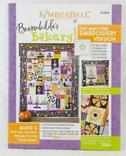 BROOMHILDA'S BAKERY MACHINE EMBROIDERY BOOK WITH CD, From Kimberbell NEW