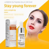 LANBENA Six Peptides Serum 24K Gold Facial Skin Care Anti-Wrinkle Moisturizing K