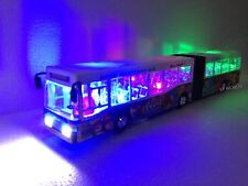 LONDON LONG DECKER BUS - BLUE BUS SOUVENIR TOY LIGHTS & MUSIC - BUS LENGTH 39cm