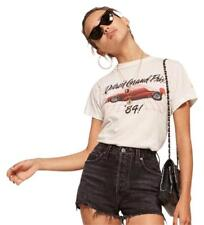 REFORMATION PACIFIC CUT OFF DENIM JEANS SHORTS~BLACK~DISTRESSED~28~RARE~HTF~NEW!