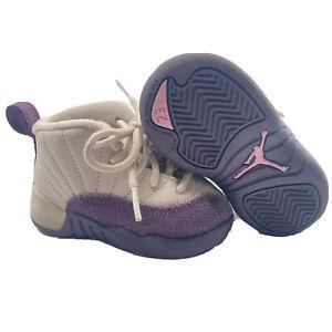 NIKE Air Jordan Retro XII 12 Desert Sand Purple Shoes 819666-001 Size 4C