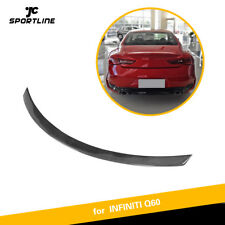 For Infiniti Q60 16-19 Rear Trunk Lid Spoiler Wing Carbon Fiber High kick Refit