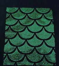 Green Jumbo Hologram Mermaid Fish Scales-4 Way Stretch Lycra-spandex-By The Yard