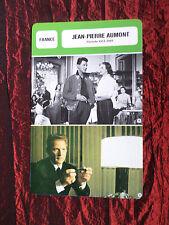 JEAN-PIERRE AUMONT - MOVIE STAR - FILM TRADE CARD - FRENCH - #2