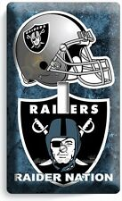 OAKLAND RAIDERS NATION NFL FOOTBALL TEAM SINGLE LIGHT SWITCH WALL PLATE ROOM ART