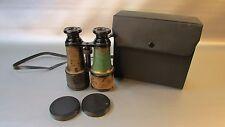 Antique Brass Binoculars Jumelle Paris, Opera, GC with case