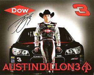 2014 Austin Dillon DOW CHEERIOS ROOKIE NASCAR RACING Signed Auto 8x10 Postcard