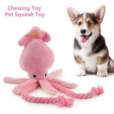 Cute Squid Dog Toy  Octopus BB Plush Pet Puppy Rope Toys Pink Chew Squeaky Toys