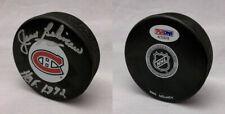 Jean Beliveau SIGNED Montreal Canadiens Hockey Puck HOF 72 PSA/DNA AUTOGRAPHED