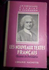 LES NOUVEAUX TEXTE FRANCAIS - JR CHEVAILLIER - Classe de 3 ème /1954