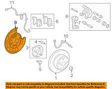TOYOTA OEM Highlander Rear Brake-Backing Plate Splash Dust Shield 4650348030