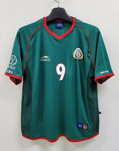 2002 MEXICO Home S/S No.9 BORGETTI 2002 World Cup sz L Jersey Shirt Trikot