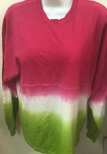 Tie  Dye Pink/Green Long Sleeve Crew Neck Size M Perfect For AKA SORORITY SISTER