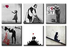 TIME4BILD BANKSY THERE IS ALWAYS LOVE LIEBE 6 BILDER LEINWAND GICLEE ART KUNST