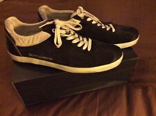 Mens Dolce & Gabbana Black Suede Leather Shoes, Size 10