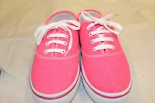 Girls Child's Kids Canvas Boat Yachting Deck Shoes Lace Up Pumps Pink Size 2