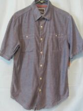 Mens SS Button Up Shirt S St. John's Bay Outfitters  American Navy NWT