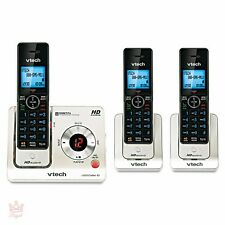 Wireless Home Phone Digital Answering System Cordless 3 Handsets Voice Announce