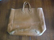 Vintage LL Bean Large Leather Tote Bag, Brown; nice LL Bean Tag