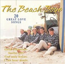 FREE US SHIP. on ANY 2 CDs! ~Used,VeryGood CD Beach Boys: 20 Great Love Songs Im