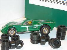 8 AR + 8AV pneus URETHANE  GT SCALEXTRIC  année 70-80