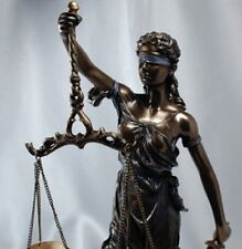 """HUGE! 31"""" Scales of Justice Lawyer Statue Attorney Judge GIFT Barrister Judge"""