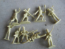 Lot of 9 CTS 1994 Tan Plastic Infantry Toy Soldier Figures