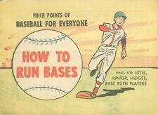 FINER POINTS OF BASEBALL FOR EVERYONE HOW TO RUN BASES RARE MINI COMIC NM