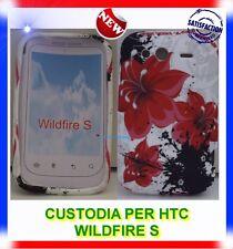 Custodia +Pellicola ORCHIDEA ROSSA per HTC WILDFIRE S G13