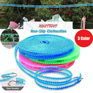 10M Washing Clothesline Outdoor Travel Camping Clothes Line Rope Non-slip Nylon