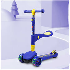 Kick Scooter For Kids Deluxe 3 Wheel Folding Adjustable Led Glider Gift 4 Colors