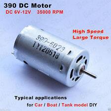 DC 6v 12v High Speed 390 Motor Large Torque Magnetic For RC Car Boat Model DIY