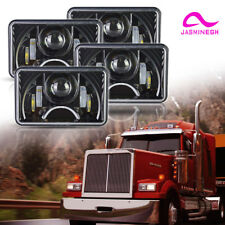 "4X6"" Black LED HID Daymaker Light Clear Sealed Beam Headlamp Headlight"