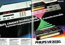 PUBLICITE ADVERTISING 0217  1981  Philips (2p) magnétoscope  à cassette VR2020