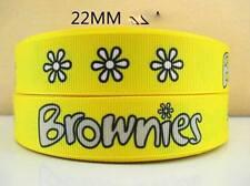 1 METRE OF BROWNIES RIBBON SIZE 1 INCH BABY HAIR BOWS HEADBANDS BIRTHDAY CAKE
