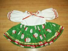 "Christmas Santa Dress 1 W/Ribbons+Santa Button for 16-18"" Cpk Cabbage Patch Kids"