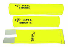 FLITE Ultra Brights 3 Piece Nylon old school BMX Bicycle Padset NEON YELLOW