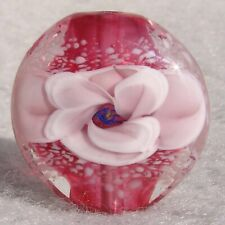 BOUTONNIERE #1 Handmade Art Glass Focal Bead Flaming Fools Lampwork Art Glass