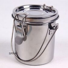 Stainless Steel Paint Washer Brush Cleaner Seal Bottle Holder Round W/ Cover New