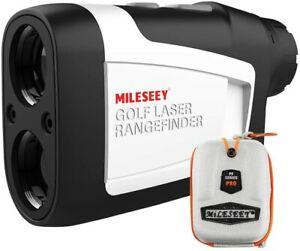 MiLESEEY 600m Golf Laser Range Finder with Flag-Lock, Slope On/Off & Vibration