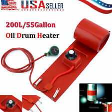 55 Gallon Silicone Band Drum Heater Oil Biodiesel Metal Barrel 200L 1000W