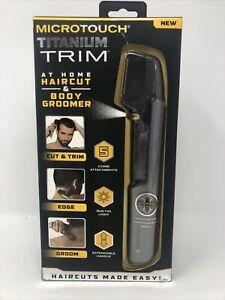 Microtouch Titanium Trim At Home Haircut and Body Groomer Cut, Trim, Edge, Groom