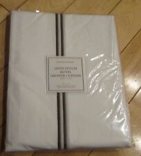 "Restoration Hardware Satin Stitch Hotel Shower Curtain White Chocolate 72""X72"""