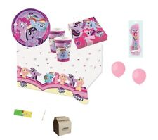 KIT COMPLEANNO MY LITTLE PONY + FORCHETTE E PALLONCINI ROSA BAMBINA FESTA PARTY