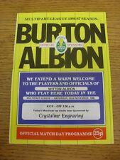 22/11/1986 Burton Albion v Witton Albion  (folded, team changes). Unless previou