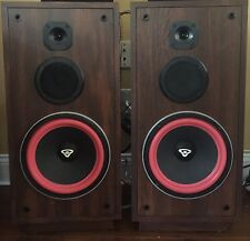 Cerwin Vega RE20 Series Floor Speakers 6 Ohms 150 Watts Brown New Subwoofer Foam