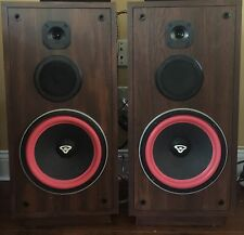 Cerwin Vega RE20 Series Floor Speakers 3 Way Brown New Subwoofer Foam