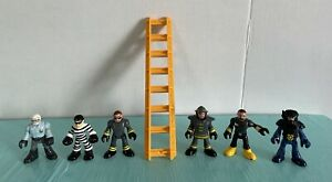 Imaginext Firemen Fire Fighters Police SWAT Criminal Cop Robber First Responders
