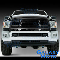 Front Hood Big Horn Black Replacement Grille+Shell for 10-18 Dodge RAM 2500+3500